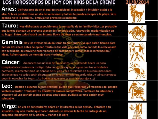 Horoscopos 21 de Agosto 1. Teil