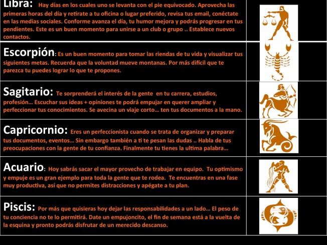 Horoscopos 21 de Agosto 2. Teil