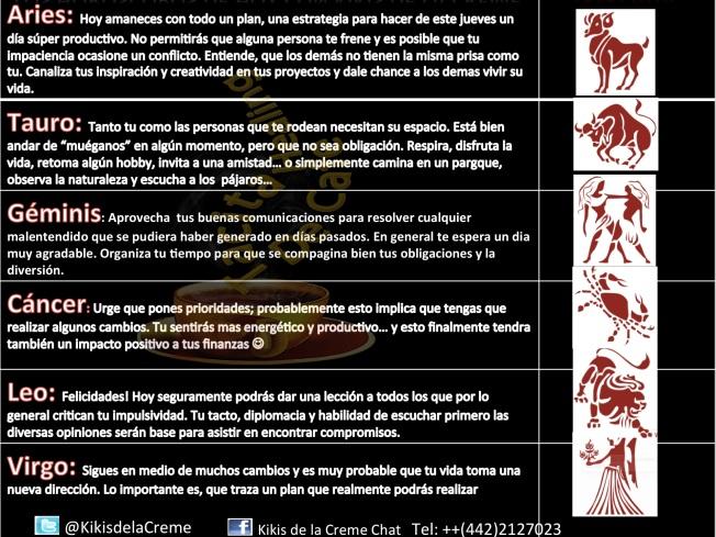 Horoscopos 28 de Agosto 1. Teil