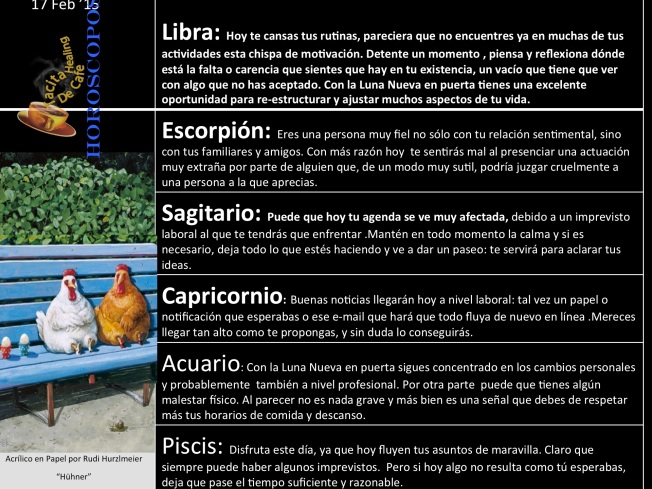 Horoskope 17 de Feb b