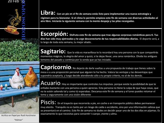 Horoskope 20 de Feb b