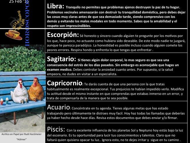 Horoskope 25 de Feb b