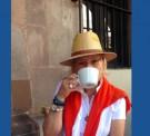 Kiki guapura con sombrero
