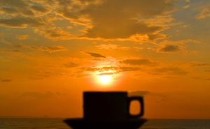 Cofee and sunrise
